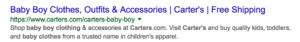HTML title tags on Google Search Page
