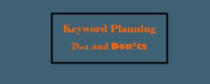 Keyword Planning