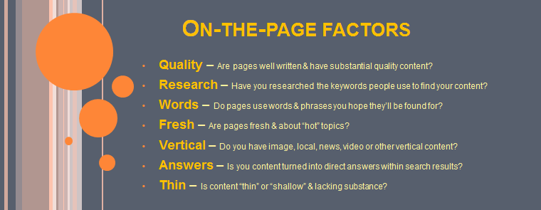important elements for onpage seo