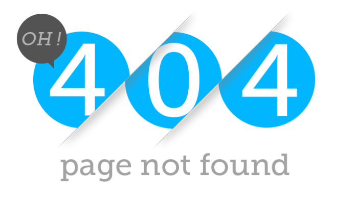 '404 page not found error' - Example which is shown when a URL redirection fails